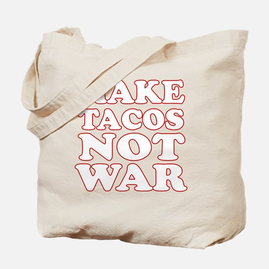 Make Tacos Not War Apron Tote Bag