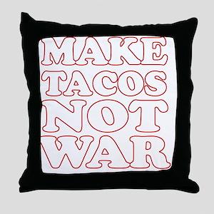 Make Tacos Not War Apron Throw Pillow