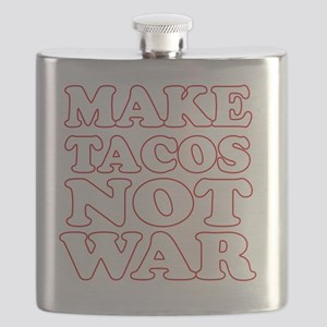 Make Tacos Not War Apron Flask