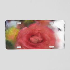 ShoulderBagArtRose1 Aluminum License Plate