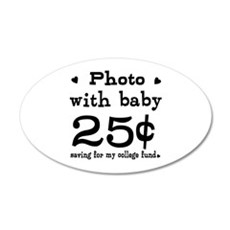 25 Cents Photo with Baby Wall Decal