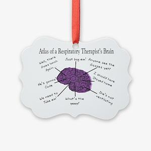 Atlas of a Respiratory Therapist  Picture Ornament