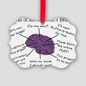 Atas of an Architects Brain Picture Ornament