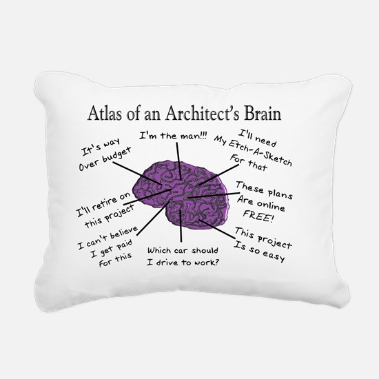 Atas of an Architects Br Rectangular Canvas Pillow