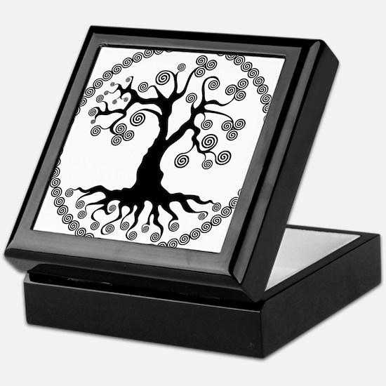 CP tree of life blk 2 Keepsake Box