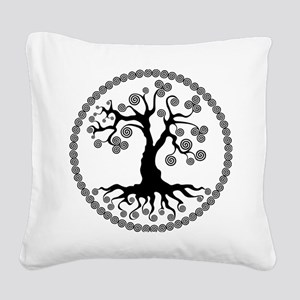 CP tree of life blk 2 Square Canvas Pillow