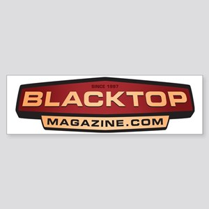 BlacktopLogoWtBG Sticker (Bumper)