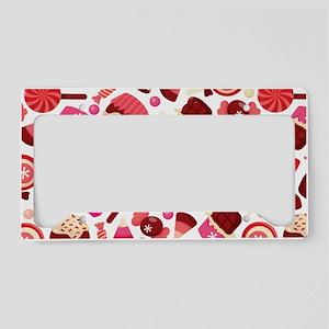 chocolates_candies_pattern_la License Plate Holder