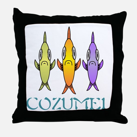Cozumel 3-fishes Throw Pillow
