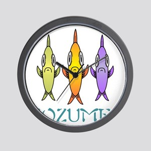 Cozumel 3-fishes Wall Clock