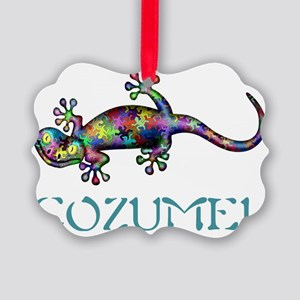 Cozumel Gekco Picture Ornament