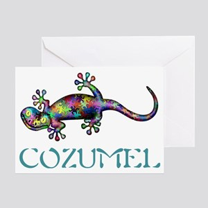 Cozumel Gekco Greeting Card