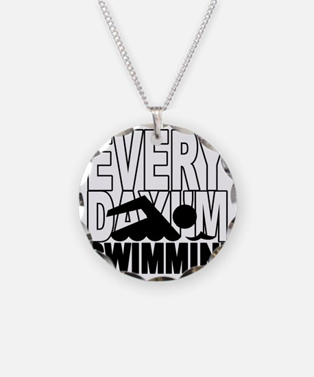 swimming2_wht Necklace