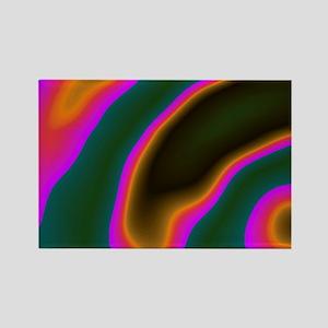 CartoonColors1 Rectangle Magnet