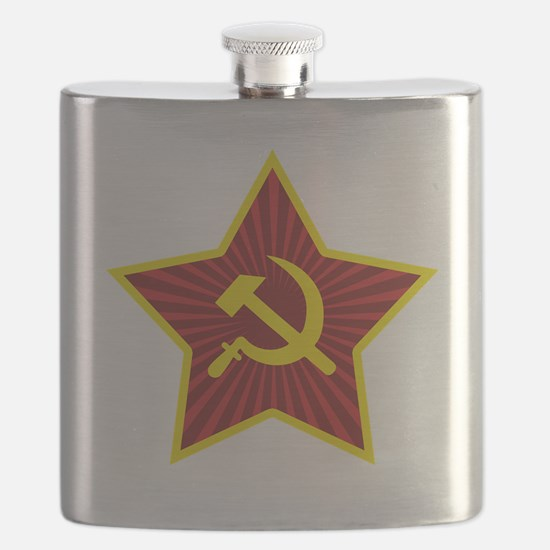 Hammer and Sickle with Star Flask