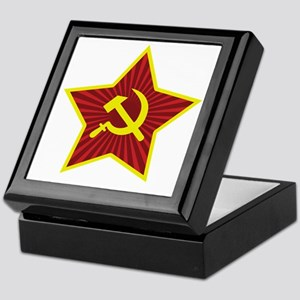 Hammer and Sickle with Star Keepsake Box