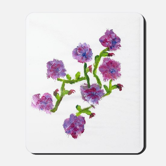 purple flowers Mousepad