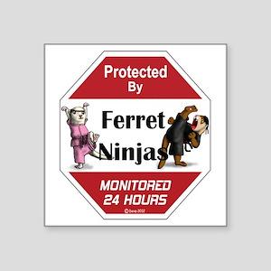 "Ninja Protection Square Sticker 3"" x 3"""