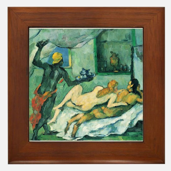 Afternoon in Naples - Paul Cezanne - c1876 Framed