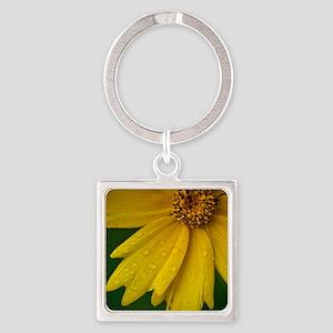 june yellow flowe8x10r Square Keychain
