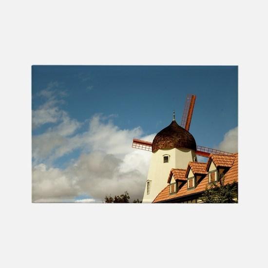 Windmill Solvang Rectangle Magnet