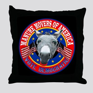 BARNZILLA'S MANURE MOVERS OF Throw Pillow