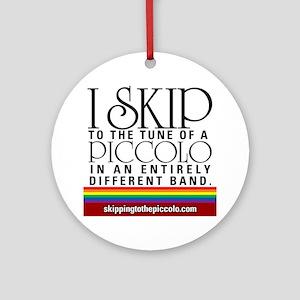 Skipping to the Piccolo Round Ornament
