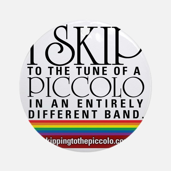 Skipping to the Piccolo Round Ornament
