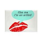 Kiss me I'm an artist Rectangle Magnet (10 pack)