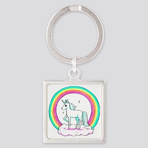 Unicorn Square Keychain