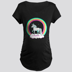 Unicorn Maternity Dark T-Shirt