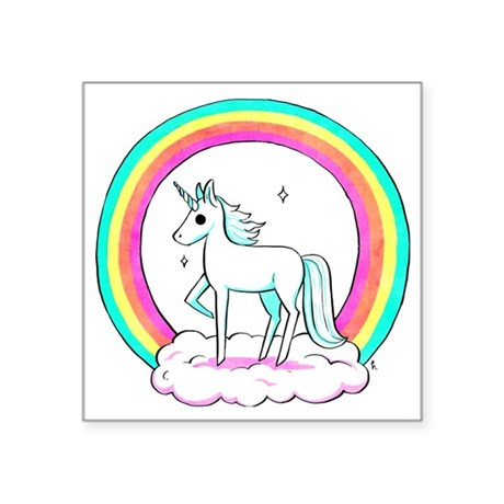 "Unicorn Square Sticker 3"" x 3"""