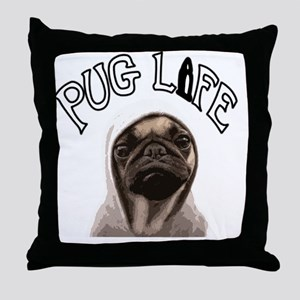 Pug Life Throw Pillow