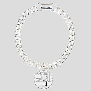 3589_steamroller_cartoon Charm Bracelet, One Charm