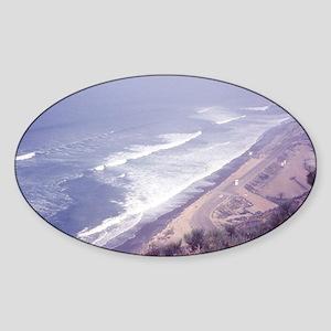 TorreyPinesBeach1 Sticker (Oval)