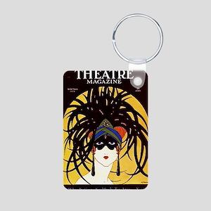 Theatre Masks Aluminum Photo Keychain