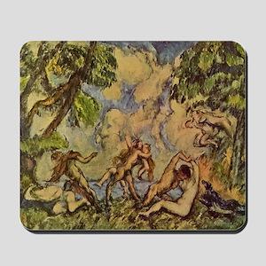 Bacchanal - Paul Cezanne - c1875 Mousepad