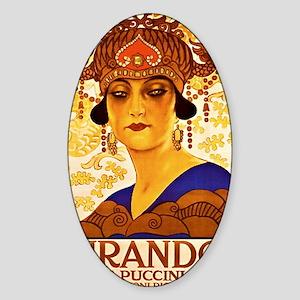 Puccini Diva Sticker (Oval)