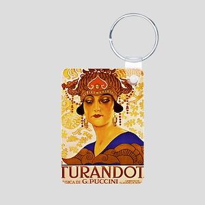 Puccini Diva Aluminum Photo Keychain
