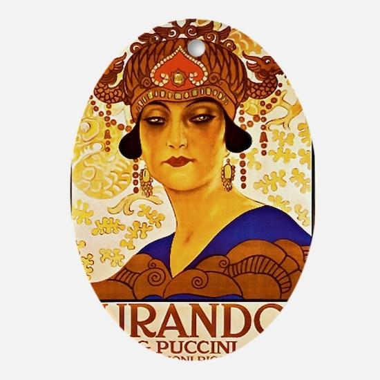 Puccini Diva Oval Ornament
