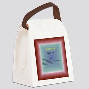 apocalypse insurance certificate Canvas Lunch Bag