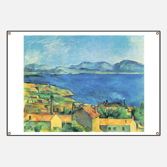 Bay of Marseille - Paul Cezanne - c1885 Banner