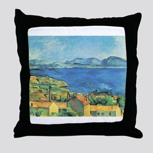 Bay of Marseille - Paul Cezanne - c1885 Throw Pill