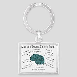 Atlas of a Trauma Nurses Brain Landscape Keychain