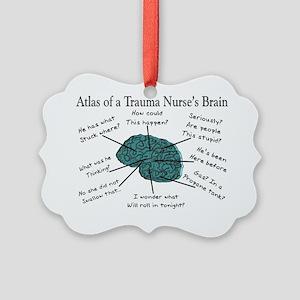 Atlas of a Trauma Nurses Brain Picture Ornament