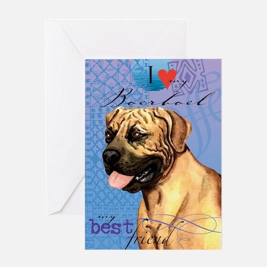 boerboel-iPad Greeting Card