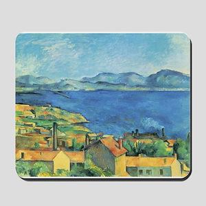 Bay of Marseille - Paul Cezanne - c1885 Mousepad