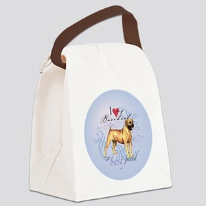 boerboel-round Canvas Lunch Bag