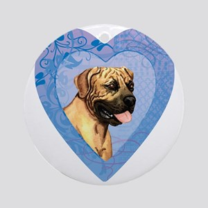 Boerboel-heart Round Ornament