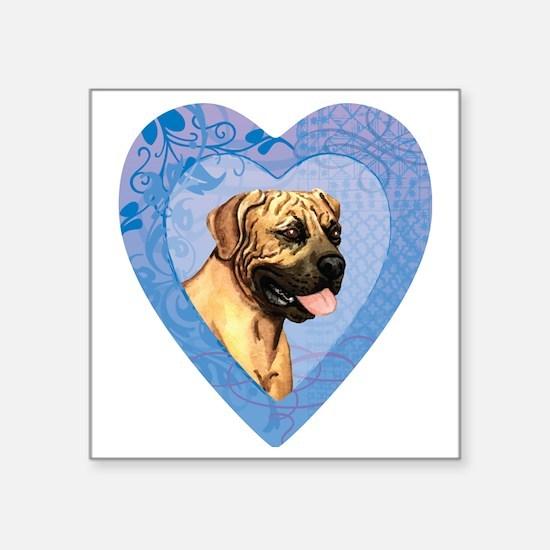 """Boerboel-heart Square Sticker 3"""" x 3"""""""